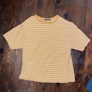 Brandy Melville Yellow T Shirt